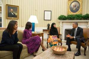 Obama and malala