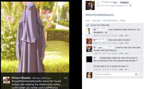 And now it's a niqabi's turn to be ridiculed ...